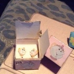 2 sets of Beauty and the beast earrings